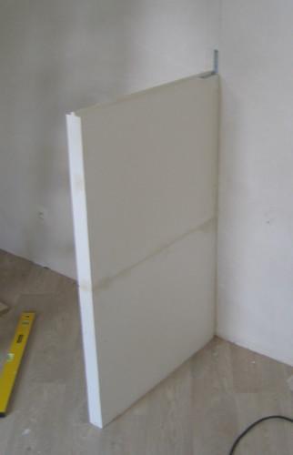 faire soi m me cloison pour placard ancrage au mur. Black Bedroom Furniture Sets. Home Design Ideas